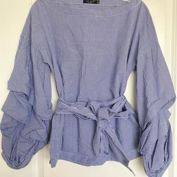 Women's MAX JEANS blouse plaid top